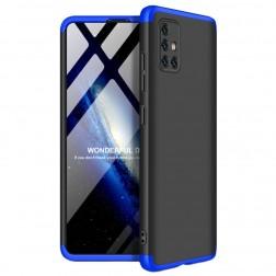 """Thin Fit 360"""" plastikinis dėklas - juodas / mėlynas (Galaxy A51)"""