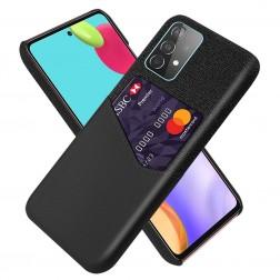 """KSQ"" Shell dėklas su kišenėle - juodas (Galaxy A52 / A52s)"