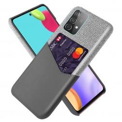 """KSQ"" Shell dėklas su kišenėle - pilkas (Galaxy A52 / A52s)"