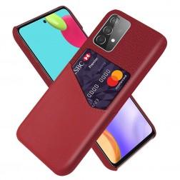 """""""KSQ"""" Shell dėklas su kišenėle - raudonas (Galaxy A52 / A52s)"""
