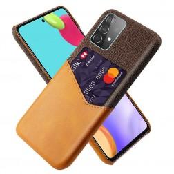 """""""KSQ"""" Shell dėklas su kišenėle - rudas (Galaxy A52 / A52s)"""