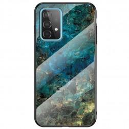 """""""Marble"""" kieto silikono (TPU) dėklas - mėlynas (Galaxy A52 / A52s)"""