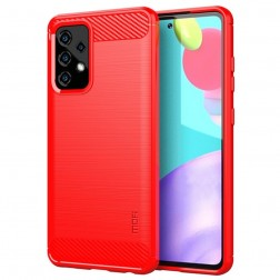 """""""Mofi"""" kieto silikono (TPU) dėklas - raudonas (Galaxy A52 / A52s)"""