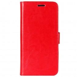 Atverčiamas dėklas, knygutė - raudonas (Galaxy A6+ 2018)