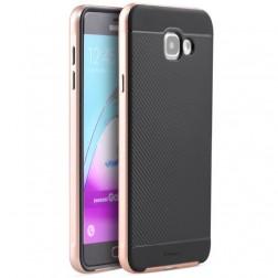 """""""IPAKY"""" kieto silikono (TPU) dėklas - juodas / rožinis (Galaxy A7 2016)"""