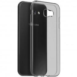 Kieto silikono (TPU) skaidrus dėklas - pilkas (Galaxy A7 2017)