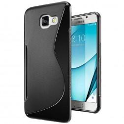 """""""S-Line"""" kieto silikono (TPU) dėklas - juodas (Galaxy A7 2017)"""