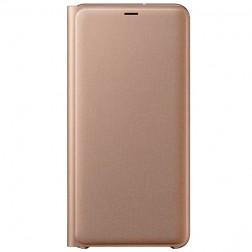 """""""Samsung"""" Wallet Cover atverčiamas dėklas - auksinis (Galaxy A7 2018)"""