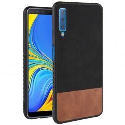 """Bi-Color"" Splicing dėklas - rudas / juodas (Galaxy A7 2018)"
