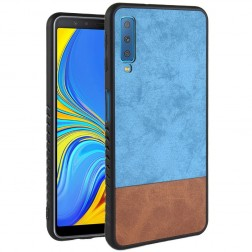 """""""Bi-Color"""" Splicing dėklas - rudas / mėlynas (Galaxy A7 2018)"""