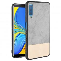 """""""Bi-Color"""" Splicing dėklas - smėlio spalvos / pilkas (Galaxy A7 2018)"""