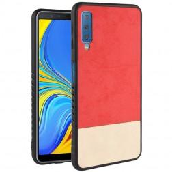"""""""Bi-Color"""" Splicing dėklas - smėlio spalvos / raudonas (Galaxy A7 2018)"""