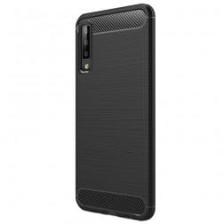 """""""Carbon"""" kieto silikono (TPU) dėklas - juodas (Galaxy A7 2018)"""