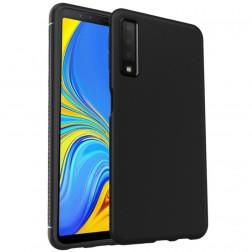 """""""Lenuo"""" kieto silikono (TPU) dėklas - juodas (Galaxy A7 2018)"""