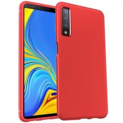 """""""Lenuo"""" kieto silikono (TPU) dėklas - raudonas (Galaxy A7 2018)"""
