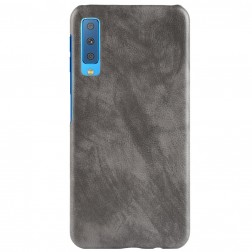 """Litchi"" Skin Leather dėklas - pilkas (Galaxy A7 2018)"