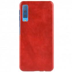 """Litchi"" Skin Leather dėklas - raudonas (Galaxy A7 2018)"
