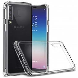 Kieto silikono (TPU) dėklas - skaidrus (Galaxy A7 2018)