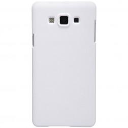 """""""Nillkin"""" Frosted Shield dėklas - baltas + apsauginė ekrano plėvelė (Galaxy A7)"""