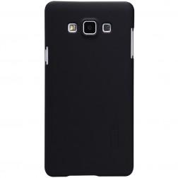 """""""Nillkin"""" Frosted Shield dėklas - juodas + apsauginė ekrano plėvelė (Galaxy A7)"""