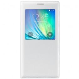 Atverčiamas dėklas su langeliu - baltas (Galaxy A7)