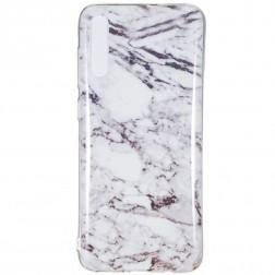 """""""Marble"""" kieto silikono (TPU) dėklas - baltas (Galaxy A7 2018)"""