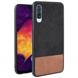 """Bi-Color"" Splicing dėklas - rudas / juodas (Galaxy A70)"