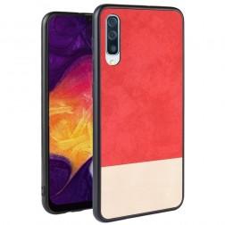 """""""Bi-Color"""" Splicing dėklas - smėlio / raudonas (Galaxy A70)"""