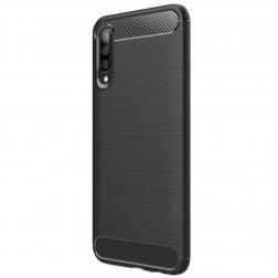 """""""Carbon"""" kieto silikono (TPU) dėklas - juodas (Galaxy A70)"""