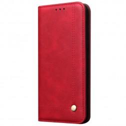 """""""Deluxe"""" atverčiamas dėklas - raudonas (Galaxy A70)"""