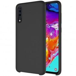 Kieto silikono (TPU) dėklas - juodas (Galaxy A70)