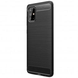 """""""Carbon"""" kieto silikono (TPU) dėklas - juodas (Galaxy A71)"""