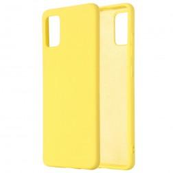 """""""Shell"""" kieto silikono (TPU) dėklas - geltonas (Galaxy A71)"""