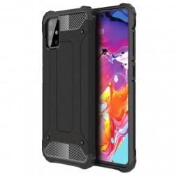 Sustiprintos apsaugos dėklas - juodas (Galaxy A71)