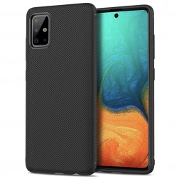 """""""Lenuo"""" kieto silikono (TPU) dėklas - juodas (Galaxy A71)"""