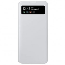 """Samsung"" S View Wallet Cover atverčiamas dėklas - baltas (Galaxy A71)"