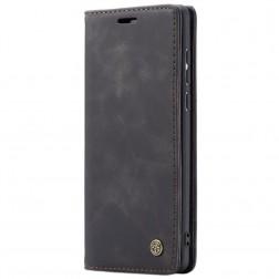 """""""CaseMe"""" Retro solidus atverčiamas dėklas - juodas (Galaxy A71)"""
