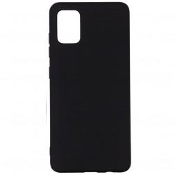 """""""Shell"""" kieto silikono (TPU) dėklas - juodas (Galaxy A71)"""