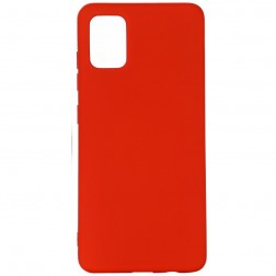 """""""Shell"""" kieto silikono (TPU) dėklas - raudonas (Galaxy A71)"""