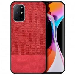 """""""Bi-Color"""" Splicing dėklas - raudonas (Galaxy A72)"""