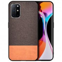 """""""Bi-Color"""" Splicing dėklas - rudas (Galaxy A72)"""