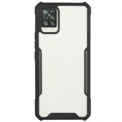 """""""FOCUS"""" dėklas - skaidrus / juodas (Galaxy A72)"""