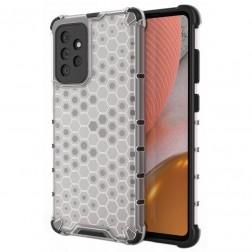 """""""Honeycomb"""" sustiprintos apsaugos dėklas - skaidrus (Galaxy A72)"""