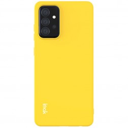 """""""Imak"""" kieto silikono (TPU) dėklas - geltonas (Galaxy A72)"""