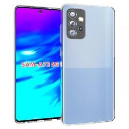 Kieto silikono (TPU) dėklas - skaidrus (Galaxy A72)