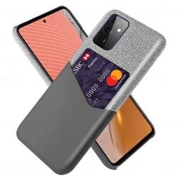 """""""KSQ"""" Shell dėklas su kišenėle - pilkas (Galaxy A72)"""