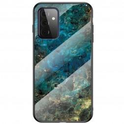"""Marble"" kieto silikono (TPU) dėklas - mėlynas (Galaxy A72)"