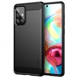 """""""Mofi"""" kieto silikono (TPU) dėklas - juodas (Galaxy A72)"""