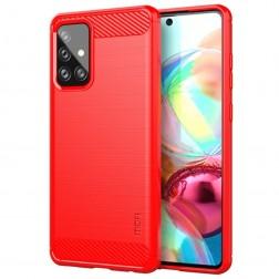 """""""Mofi"""" kieto silikono (TPU) dėklas - raudonas (Galaxy A72)"""