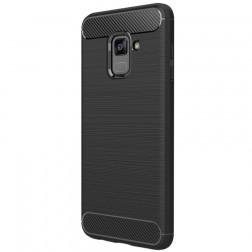 """""""Carbon"""" kieto silikono (TPU) dėklas - juodas (Galaxy A8 2018)"""